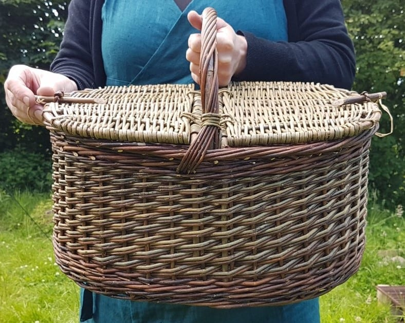 Round large sustainable shopping basket, photo 2